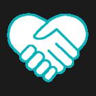 Ikon hjärta av händer